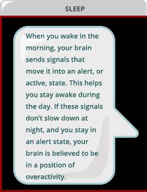 Your brain's wake system can affect your sleep.